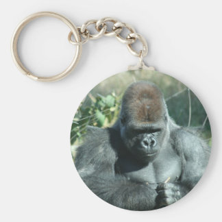 Silver Back Gorilla Key Ring