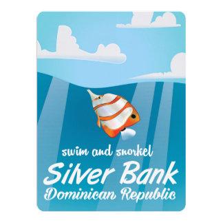 Silver Bank Dominican Republic Snorkel travel 17 Cm X 22 Cm Invitation Card