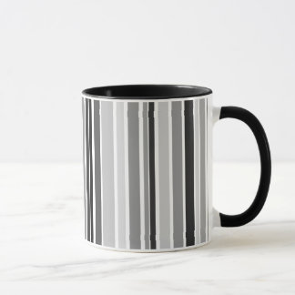 Silver Bar Code Stripes Ringer Coffee Mug