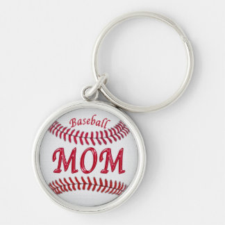 Silver Baseball Keychains for Moms