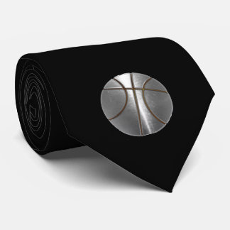 Silver Basketball Tie