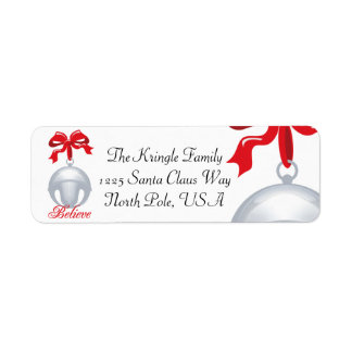 Silver Bell Believe Address Label