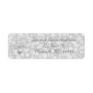 Silver Bells Christmas Address Label