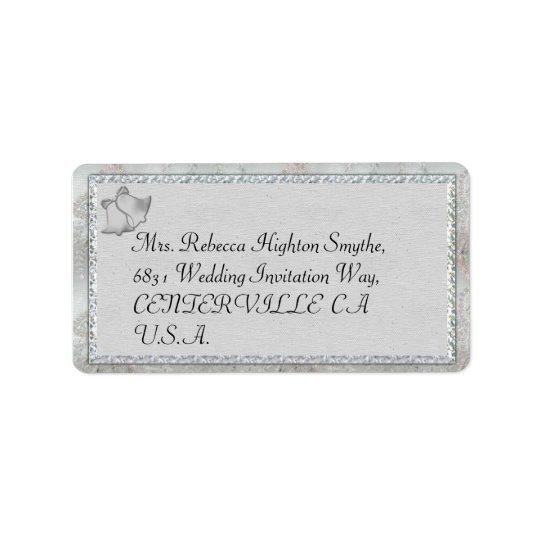 Silver Bells Wedding Address Labels