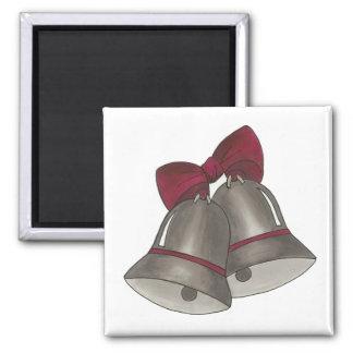 Silver Bells Wedding Anniversary Bell Magnet