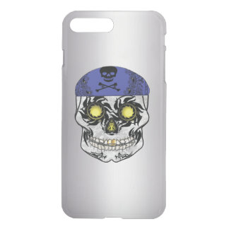 Silver Biker Candy Skull Iphone Case