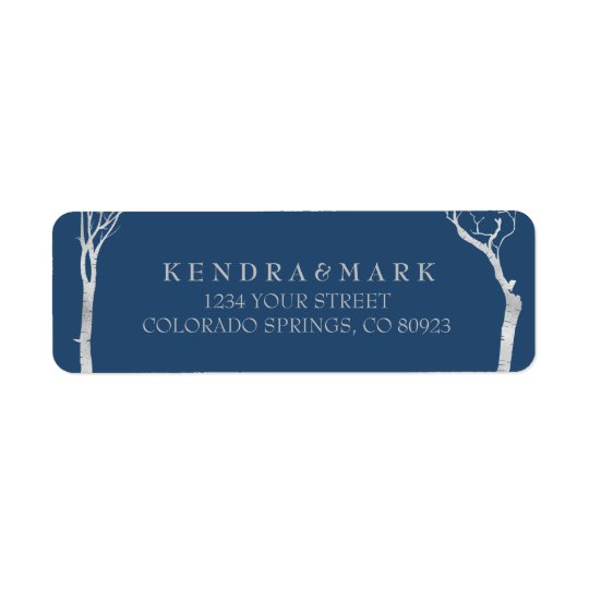 Silver Birch Tree Address Labels