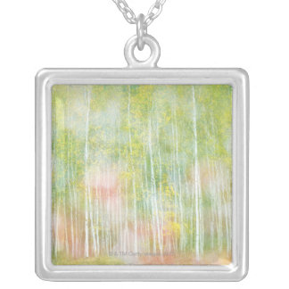Silver Birch Trees Silver Plated Necklace