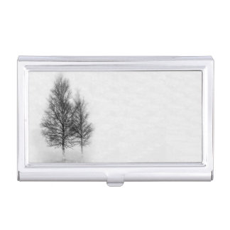 Silver Birches Case For Business Cards