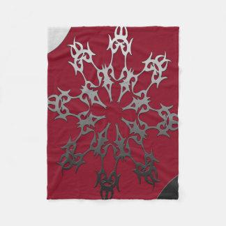 Silver Black Brick Ethnic Abstract Fleece Blanket