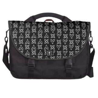 Silver Black Celtic Knot Commuter Laptop Bag