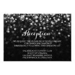 Silver Black Hollywood Glitz Glam Reception Card Invites