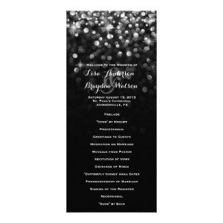Silver Black Hollywood Glitz Glam Wedding Program Rack Card
