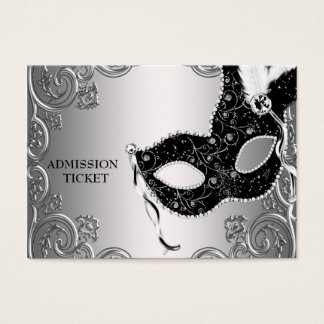 Silver Black Masquerade Party Admission Tickets
