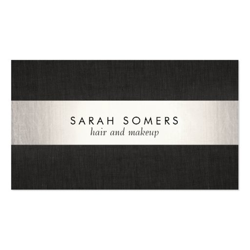 Silver Black Striped Makeup and Hair NOT REAL FOIL Business Cards