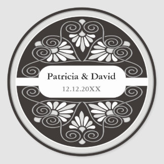 Silver Black Wedding Favors Seals