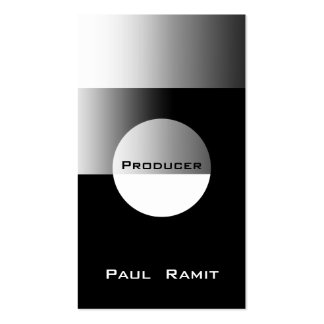 Silver Black White Business Card BW 9 Producer