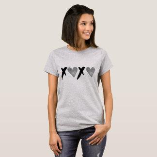 Silver Black XOXO Hearts T-Shirt