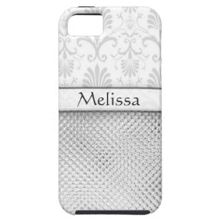 Silver Bling Effect Pattern  Personalized iPhone 5 Case