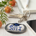 Silver & Blue Class Of 2014 Graduation Keychain
