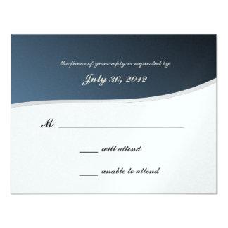 Silver Blue Music Bar Mitzvah/ Response Card 11 Cm X 14 Cm Invitation Card