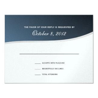 Silver Blue Music Response Card 11 Cm X 14 Cm Invitation Card