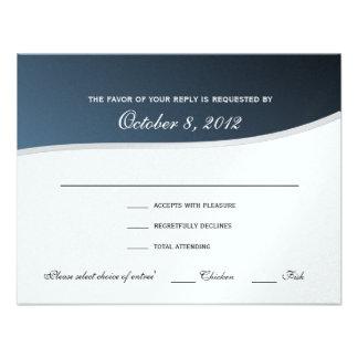 Silver Blue Music Response Card Announcement