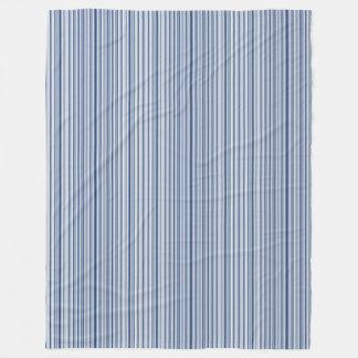 Silver Blues Fleece Blanket