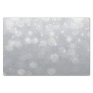 Silver Bokeh Lights Tissue Paper