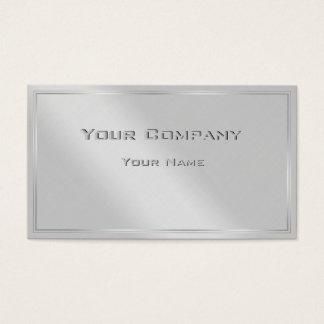 Silver Border Minimal Corporate  Business Card