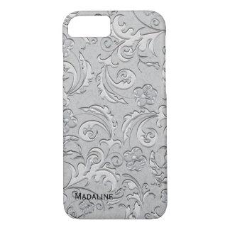 Silver Brocade iPhone 7 Case