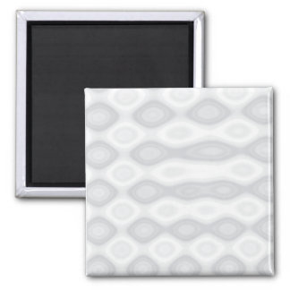 Silver Brushed Steel Look Background Square Magnet