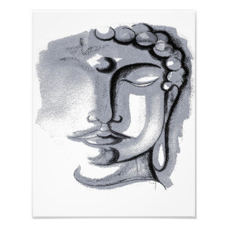 "SILVER BUDDHA FACE 11"" x 14"" Photo Enlargement"