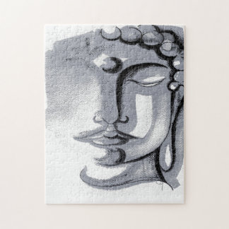 SILVER BUDDHA FACE Puzzle 252 PIECES