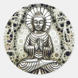 Silver Buddha Stickers