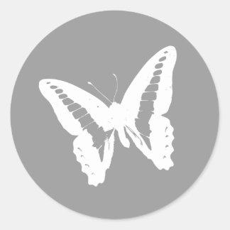 Silver Butterfly Envelope Sticker Seal