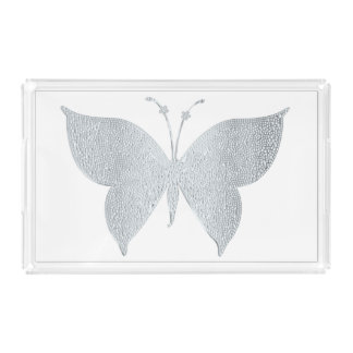 Silver Butterfly Serving Tray