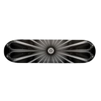 Silver Button Skateboard