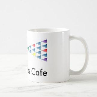 Silver Buzz Cafe Coffee Mug - White