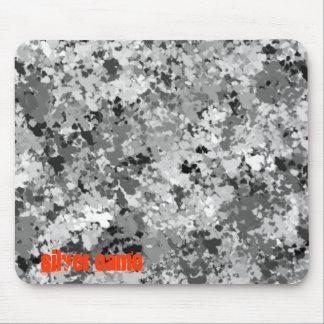Silver Camo Mouse Pad