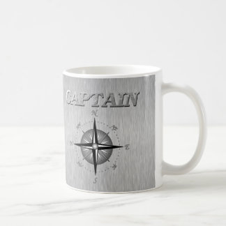 Silver Captain with Compass Rose Coffee Mug