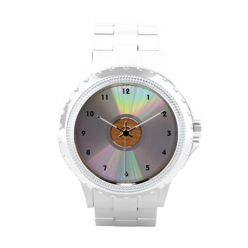 Silver CD graphic (not actually shiny) Watch