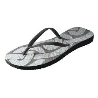 Silver Celtic Band Flip Flops