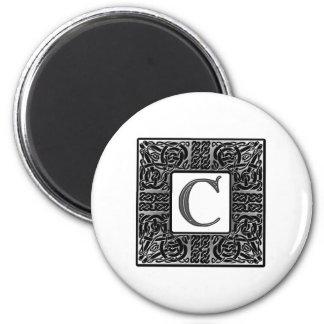 Silver Celtic C Monogram Magnets