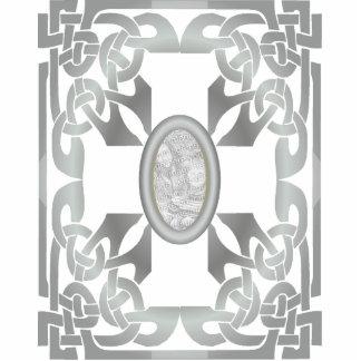 Silver Celtic Design Photo Frame Sculpture Cut Outs