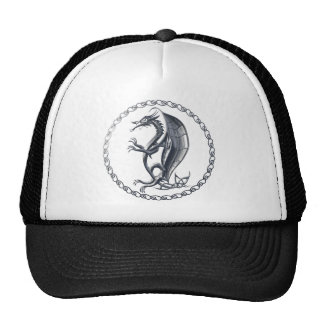 Silver Celtic Dragon Hat