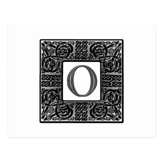 "Silver Celtic ""O"" Monogram Postcard"