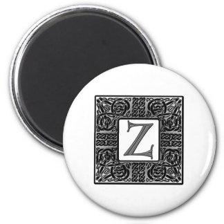 Silver Celtic Z Monogram Magnet