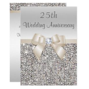 25th Anniversary Wedding Invitations Zazzle Com Au