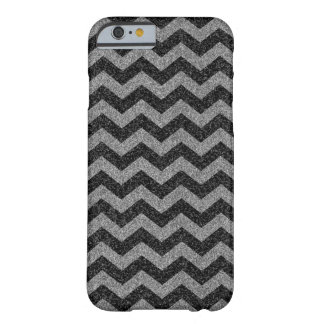Silver Chevron Sparkly Glitter Barely There iPhone 6 Case